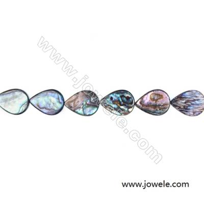Abalone Shell Teardrop Bead Strands, Size 13x18mm, Hole 0.8 mm, About 22 beads / strand, 15 ~ 16""