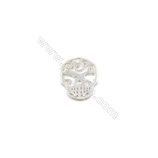 925 Sterling Silver Charms  Mask  Size 13x16mm  Hole 1mm  8pcs/pack