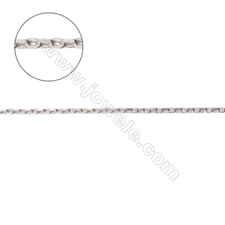 Sterling silver cross chain findings for necklace jewelry making-A8S10 size 0.35 x 1.1 x 1.7mm
