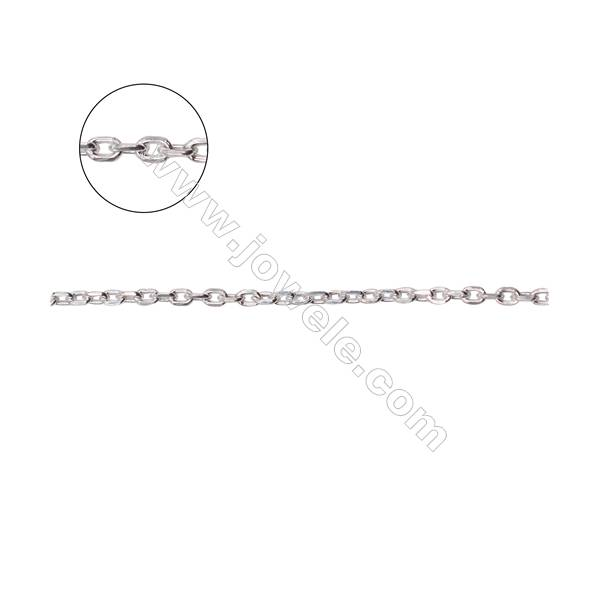 Wholesale sterling silver cross chain necklace findings for jewelry making-A8S14  size 0.3x1.4x2.0mm