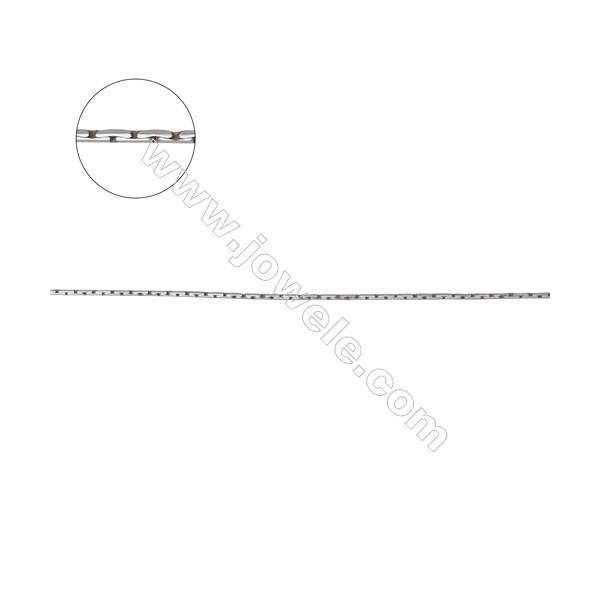 925 sterling silver rhombus cable necklace chain -E8S5 diameter 0.7mm