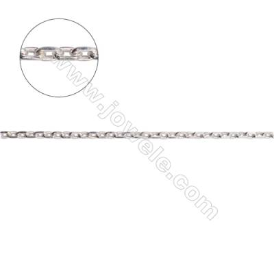 925 sterling silver cable chain necklace findings for jewelry making-A8S11  size 0.6x2.0x3.2mm