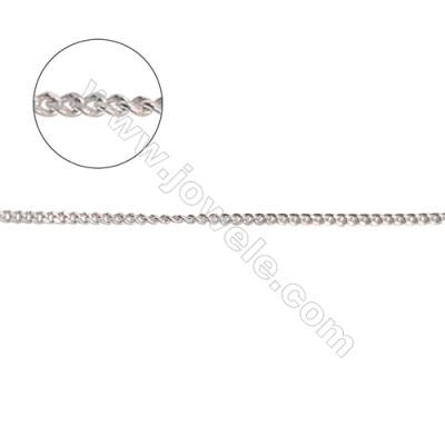 Necklace parts 925 sterling silver curb chain for jewelry making-A8S6  size 0.95x1.25x0.5mm