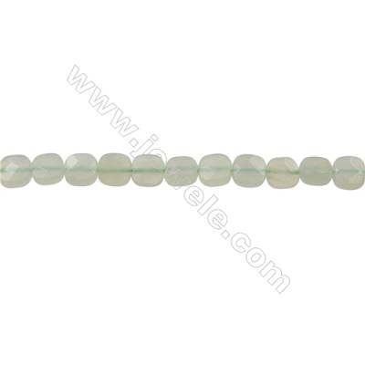 New Jade Strand Beads  Square(Faceted)  Size 6x6mm  Hole 0.6mm  66 beads/strand  15-16""