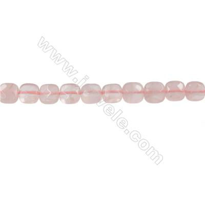 Natural Rose Quartz Strand Beads  Square(Faceted)  Size 6x6mm  Hole 0.6mm  66 beads/strand  15-16""