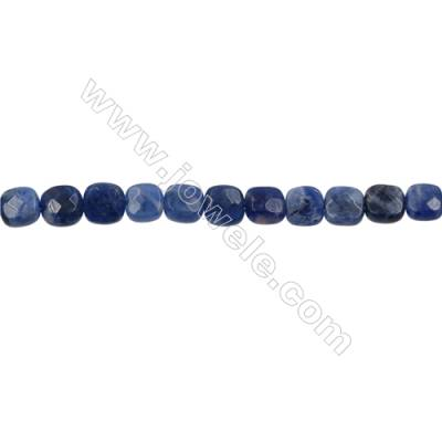 Natural Sodalite Strand Beads  Square(Faceted)  Size 6x6mm  Hole 0.6mm  66 beads/strand  15-16""