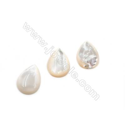 Natural White Shell Cabochons  Teardrop  Size 18x25mm  Thick 5mm  8pcs/pack
