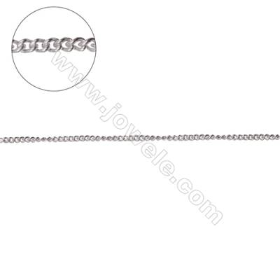 Jewelry findings 925 sterling silver curb chain for jewelry making-A8S3  size 1.4x1.8x0.8mm