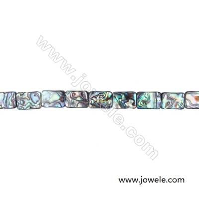 Abalone/Paua Shell Bead Strands, Rectangular, Size 12x16mm, Hole 1.0mm, About 25 beads/strand, 15 ~ 16""