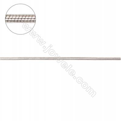 Wholesale 925 sterling silver round snake chain -I8S3 diameter 0.9mm