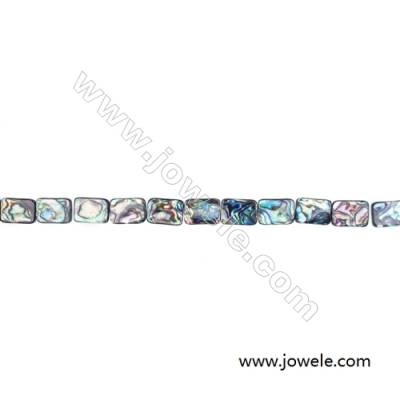 Abalone Shell Bead Strands, Rectangular, Size 13x18mm, Hole 0.7 mm, About 22 beads/strand, 15 ~ 16 ""