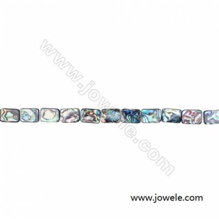 """Abalone Shell Bead Strands, Rectangular, Size 13x18mm, Hole 0.7 mm, About 22 beads/strand, 15 ~ 16 """""""