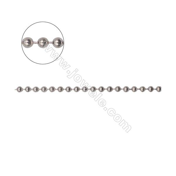 High quality 925 sterling silver ball chains necklace chain-B8S4  size 2.5mm