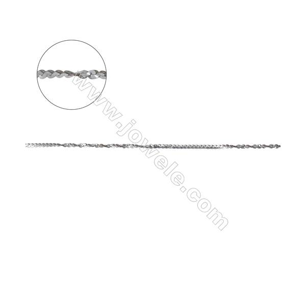 925 sterling silver twisted serpentine W/S chain-D8S1 size 0.3x0.9mm    х1m