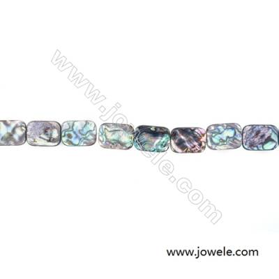 Abalone/Paua Shell Bead Strand, Rectangular, Size 18x25 mm, Hole 0.8 mm, About 16 beads/strand, 15 ~ 16 ''