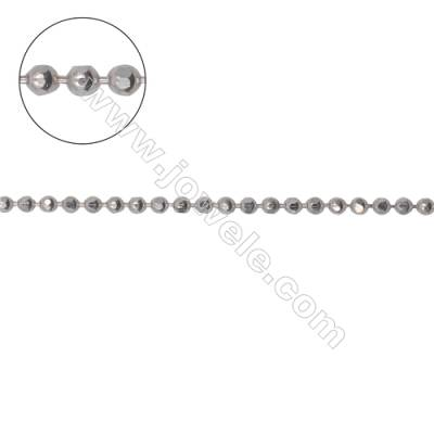 Wholesale high quality 925 sterling silver faceted ball chains necklace chain-B8S2  size 1. 5mm      x1m