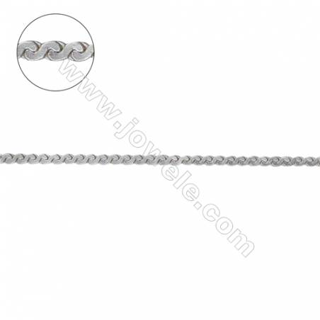 Polular design 925 sterling silver serpentine chain for jewelry making -D8S4 size 0.5x1.1mm     х1m