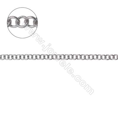 High quality 925 sterling silver Rolo chain for necklace bracelet making-B8S15  size 3.5x0.65mm x 1meter
