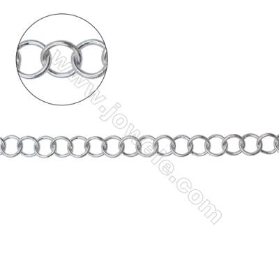 Wholesale High quality 925 sterling silver Rolo chain for necklace bracelet making-B8S13  size 5x0.7mm
