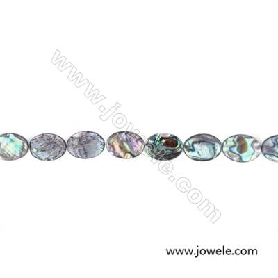 Abalone/Paua Shell Bead Strands, Oval, Size 18x25mm, Hole 0.8mm, About 16 beads/strand, 15 ~ 16 ''