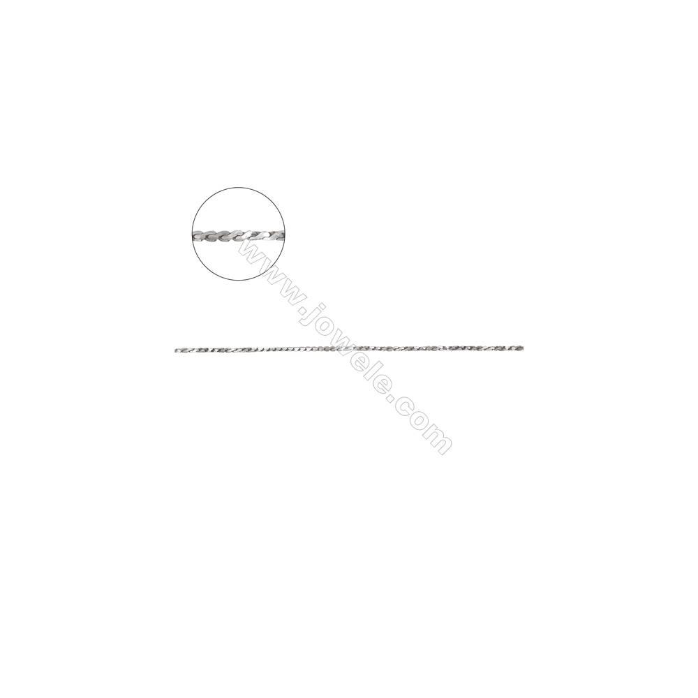 925 sterling silver square serpentine chain twist chain -D8S8 size 0.8x0.8mm