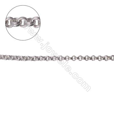 Fashion 925 sterling silver double rolo  cable chain-B8S9  size 2.2x0.75mm