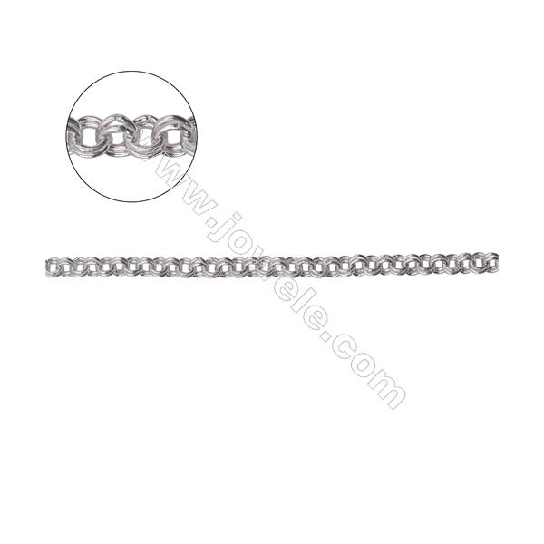 Fashion 925 sterling silver double rolo  cable chain-B8S12  size 2.8x0.9mm