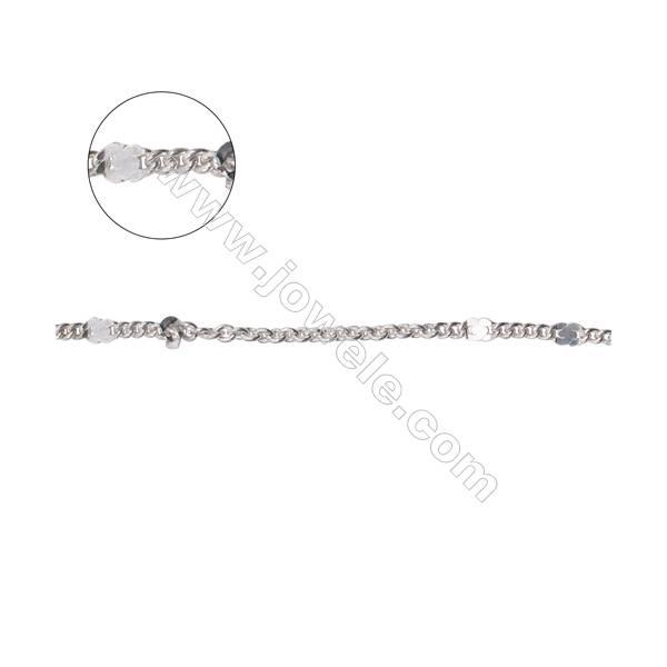 925 sterling silver flat figure 8 chain cross chain curb chain-B8S7  size: curb 1.6x2mm  cross 1.9x2x0.45mm X 1meter