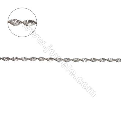 Fancy 925 sterling silver magic twist link chain for jewelry making-C8S4 size 2.0mm
