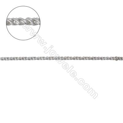 Wholesale jewelry findings 925 sterling silver rope chain-C8S5 size 1.3mm