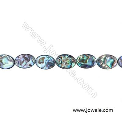 Abalone/Paua Shell Beads Strand, Oval, Size 13x18mm, Hole 0.7mm, About 22 beads/strand, 15 ~ 16 ''