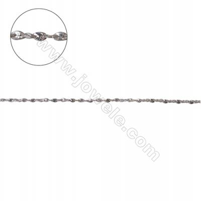925 sterling silver twisted serpentine chain jewelry accessories -C8S6 size 0.3x0.8mm
