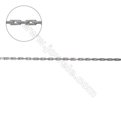 925 sterling silver square cross link chain for necklace jewelry making-C8S11 size 3.0x1.1mm