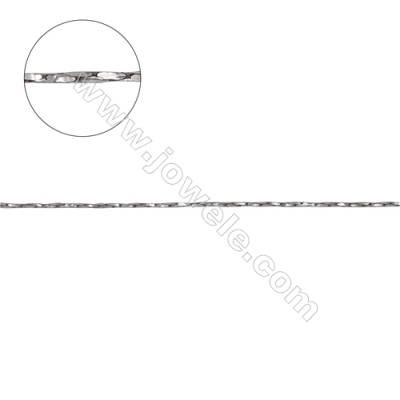 925 Sterling silver twisted cable box chain for jewelry making-C8S13 size 0.6x0.6mm