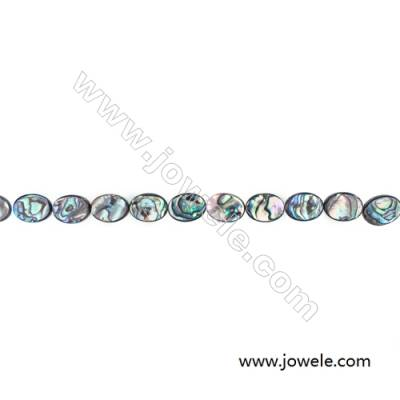 Abalone/Paua Shell Bead Strands, Oval, Size 12x16mm, Hole 0.8 mm, About 25 beads/strand, 15 ~ 16 ""