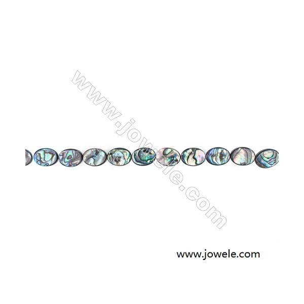 """Abalone/Paua Shell Bead Strands, Oval, Size 12x16mm, Hole 0.8 mm, About 25 beads/strand, 15 ~ 16 """""""