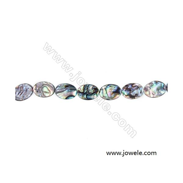 Abalone Shell Bead Strands, Oval, Size 10x14mm, Hole 0.8 mm, About 28 beads/strand, 15 ~ 16 ''