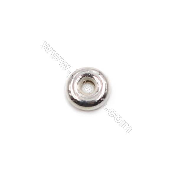 Sterling silver spacer beads  silver findings online supplies-E06S4 size 4.7x1.7mm hole 1.3mm 100pcs/pack