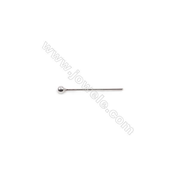 High quality 925 sterling silver ball head pins-B6S2  size 0.5x15x1.8mm 100pcs/pack