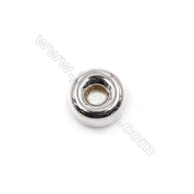 Sterling silver spacer beads  silver findings online supplies-E06S6   size 6.5x3.6mm hole 2.1mm 100pcs/pack