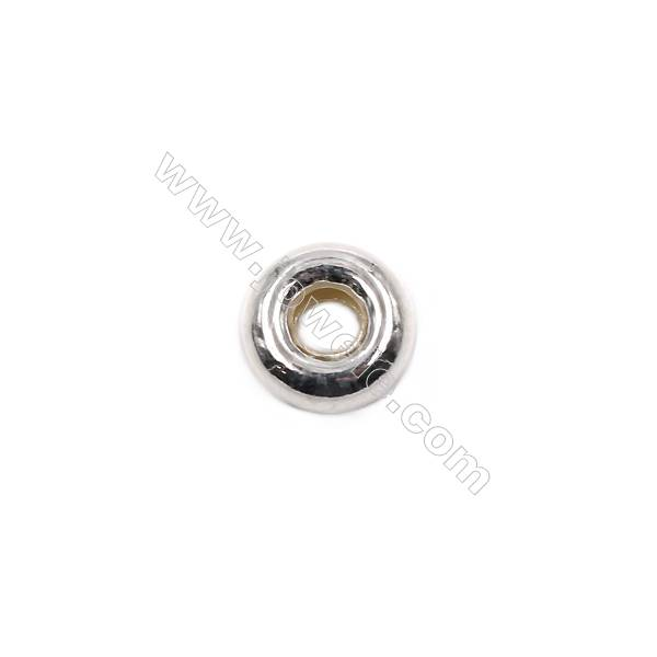 Donut sterling silver spacer beads  silver findings online supplies-E06S9  size 9x4.3mm hole 3.3mm 40pcs/pack