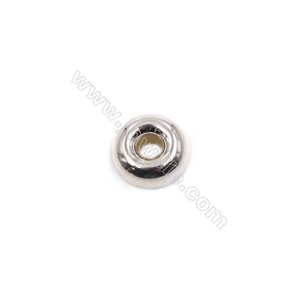 Donut sterling silver spacer beads  silver findings online supplies-E06S10  size 11x5.5mm hole 3.7mm 20pcs/pack
