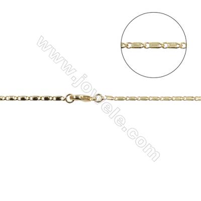 "Brass Horse Hoof Chain Necklace Makings  Gold  Width 1.7mm  Thick 0.85mm  16""/18""x1strand"