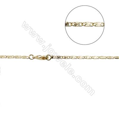 "Brass Gypsophila Chain Necklaces Making  Gold  Width 2mm  Thick 0.8mm  16""/18"" x1strand"