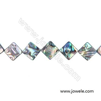 Abalone Shell Bead Strands, Rhombus, Size 19x19mm, Hole 1.0 mm, About 22 beads/strand, 15 ~ 16 ""