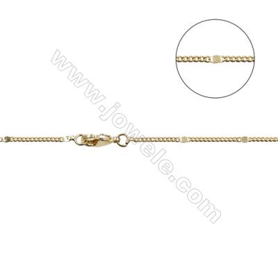 "Brass Tiles Spacer Chain Necklaces Making  Gold  Width 1.7mm  Thick 0.8mm  16""/18""x1strand"