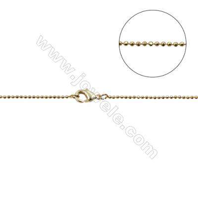 "Brass Necklace Making  Brass Ball Bead Chains  Gold  Dameter 1.2mm   16""/18""x1strand"