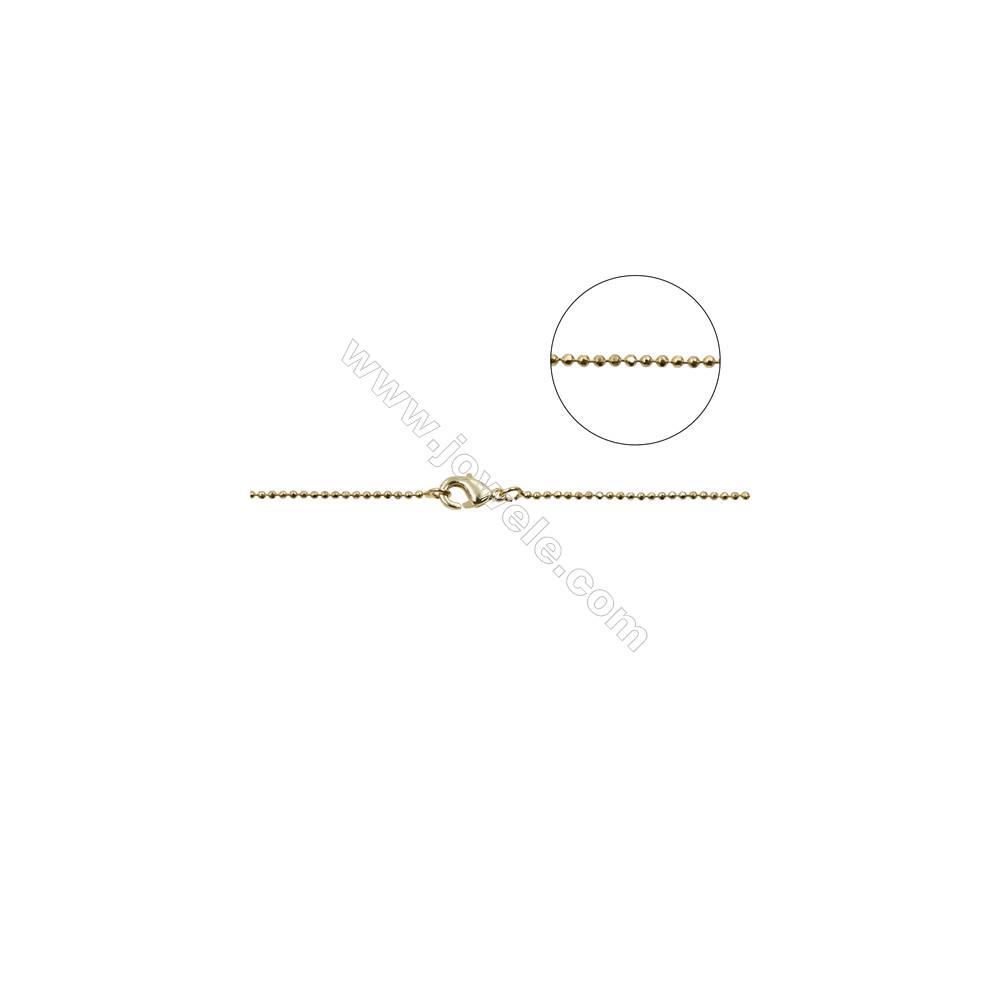 "Brass Necklace Making  Brass Ball Bead Chains  Gold  Dameter 1.2mm   16""/18""x1strand"