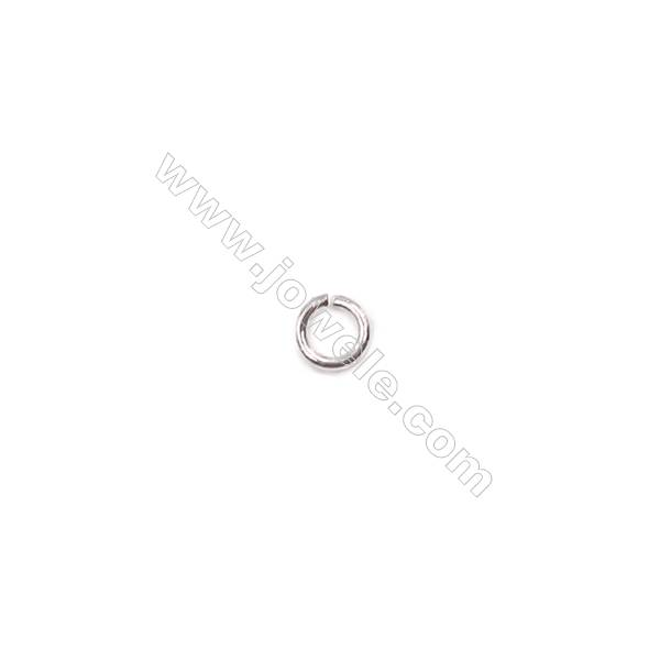 Bracelet necklace findings 925 sterling silver jump ring  0.6x3mm  200pcs/pack
