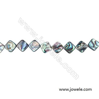 Abalone Shell Bead Strands, Rhombus, Size 15x15mm, Hole 1.0 mm, About 28 beads/strand, 15 ~ 16 ""